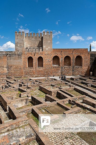 Barrio Castrense  Alcazaba der Alhambra  Granada  Andalusien  Spanien  Europa