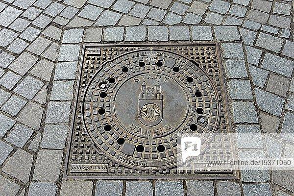 Gullydeckel  Hameln  Niedersachsen  Deutschland  Europa