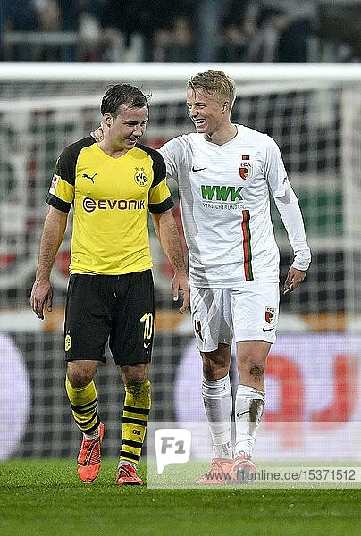 Brüder Mario Götze  Borussia Dortmund BVB und Felix Götze  FC Augsburg FCA  WWK Arena  Augsburg  Bayern  Deutschland  Europa
