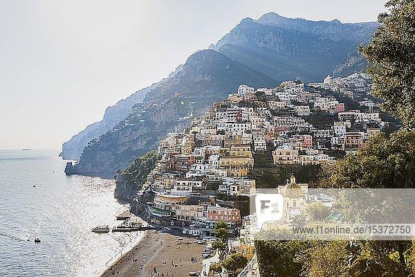 Stadtansicht von Positano  Amalfiküste  Costiera Amalfitana  Kampanien  Italien  Europa