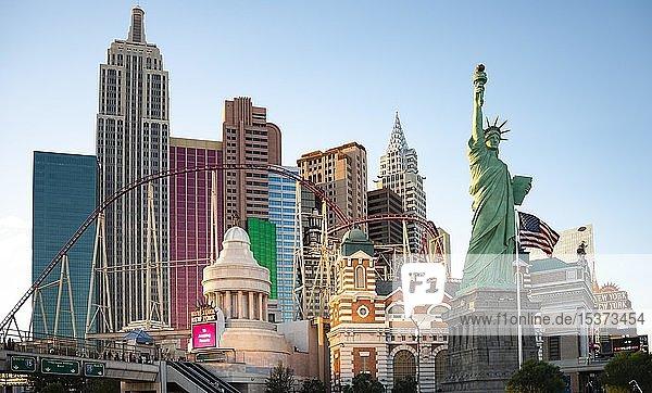 New York New York Hotel und Casino  Las Vegas Strip  Las Vegas  Nevada  USAv