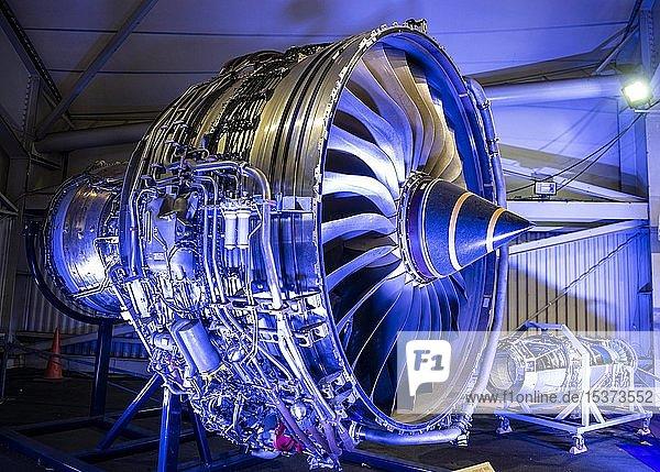 Flugzeugtriebwerk und Helikoptertriebwerk  Ausstellung Pariser Luftfahrtschau  Paris  Frankreich  Europa