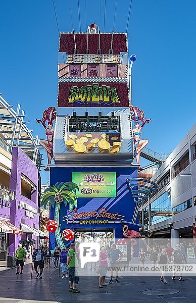 Fremont Street Experience  Downtown  Las Vegas  Nevada  USA  Nordamerika