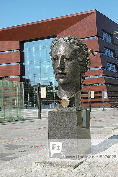Orpheuskopf  Entwurf von Theodor von Gosen  Nationales Musikforum  Breslau  Polen  Europa