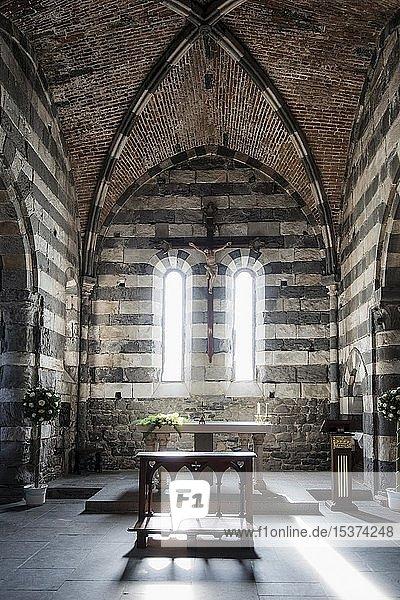 Kirche San Pietro  Portovenere  Cinque Terre  Provinz La Spezia  Riviera di Levante  Ligurien  Italien  Europa
