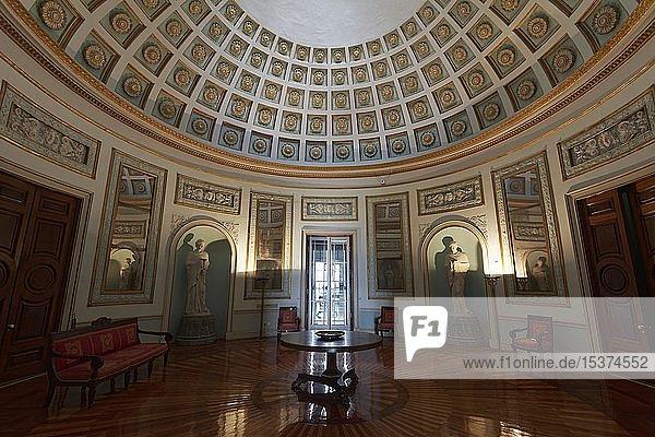 Kuppelsaal oder Rotunde im Palast St. Michael und St. Georg  auch Alter Palast  Korfu Stadt  Insel Korfu  Ionische Inseln  Griechenland  Europa
