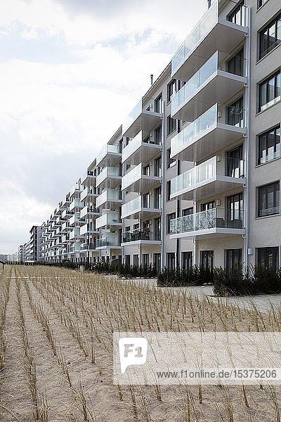 Renovierter Häuserblock  ehemaliges KdF-Seebad  Prora  Binz  Insel Rügen  Mecklenburg-Vorpommern  Deutschland  Europa