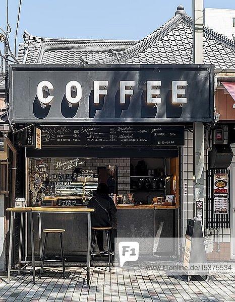 Kleiner Kaffeeladen Coffee  Kyoto  Japan  Asien