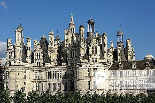 Chateau de Chambord,  Loiretal,  Departement Loir-et-Cher,  Centre-Val de Loire,  Frankreich,  Europa