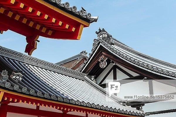 Japanische Architektur  Dächer  Shishin-den Halle  Imperial Palace  Kyoto Gyoen  Kyoto  Japan  Asien