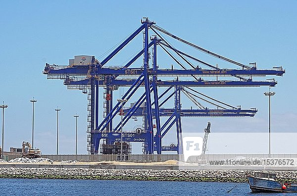 Containerhafen Namport  Walfish Bay  Namibia  Afrika
