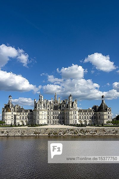 Königliches Schloss in Chambord  Loiretal  Departement Loir-et-Cher  Centre-Val de Loire  Frankreich  Europa