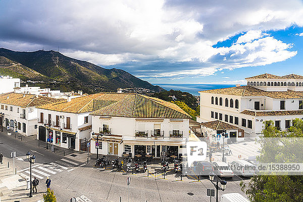 Spain  old white village of Mijas in Malaga province