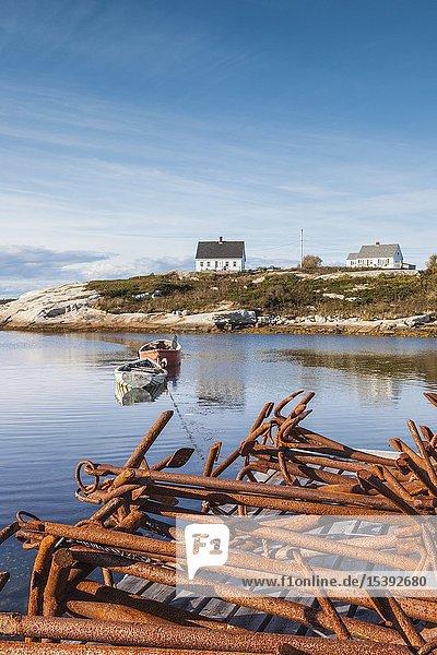 Canada,  Nova Scotia,  Peggy's Cove,  fishing village on the Atlantic Coast,  village house.