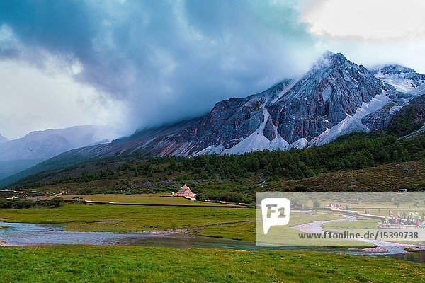 DaoChengYa butyl scenic mountains in sichuan province