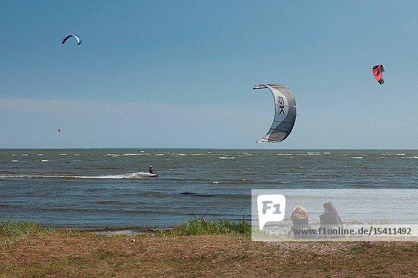 Kitesurfing in Tehumardi  Saaremaa island