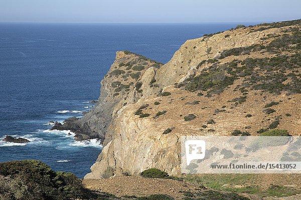 Cliffs at Arrifana Beach  Algarve  Portugal  Europe.