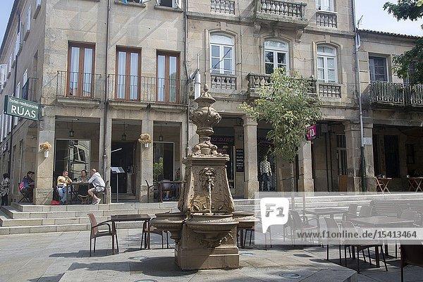 Sarmiento Street  Pontevedra  Galicia  Spain.