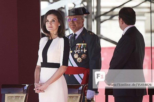 Queen Letizia of Spain attends 175th anniversary of the founding of the Guardia Civil at Royal Palace on May 13  2019 in Madrid  Spain