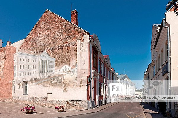 Ãœlikooli Street leading to the Main Building of Tartu University