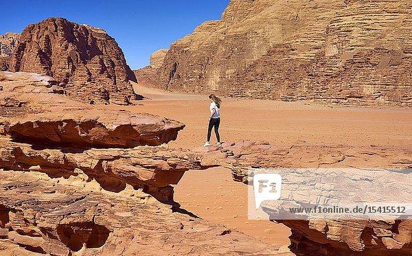 Stone Bridge  Wadi Rum Desert  Jordan.