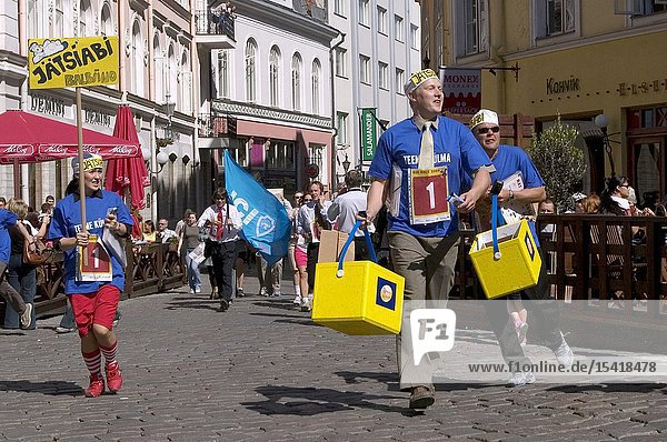 The annual race for office workers in the streets of Tallinn