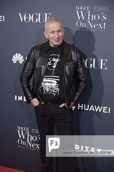 Jean Paul Gaultier attends 'Vogue Who's On Next' Madrid Photocall at Gran Maestre Theatre on May 23  2019 in Madrid  Spain
