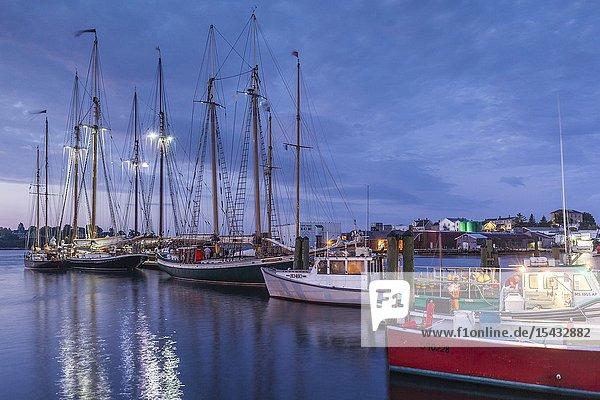 USA  New England  Massachusetts  Cape Ann  Gloucester  Gloucester Schooner Festival  schooners  dawn.