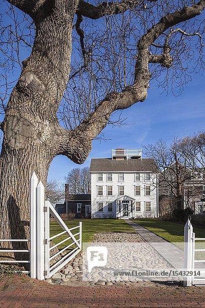 USA  New England  Massachusetts  Nantucket Island  Nantucket Town  historic house detail.
