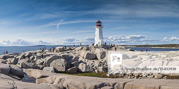Canada  Nova Scotia  Peggy's Cove  fishing village on the Atlantic Coast  Peggys Cove Lighthouse.