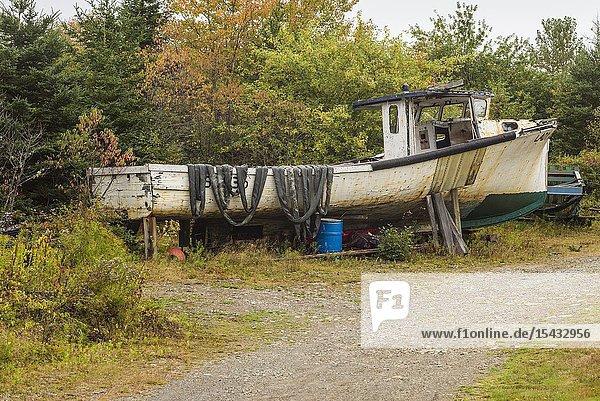 Canada  Nova Scotia  Marie Joseph  fishing boat.