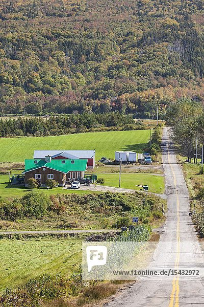 Canada  Nova Scotia  Margaree Harbour  village road.