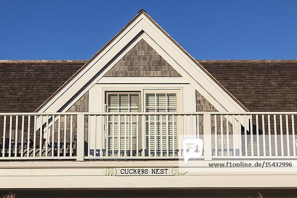 USA  New England  Massachusetts  Nantucket Island  Siasconset  village cottage window detail  Cuckoos Nest.