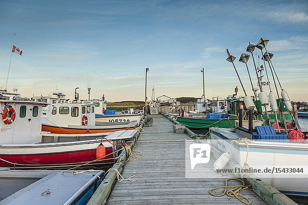 Canada  Nova Scotia  Cabot Trail  Ingonish  Cape Breton HIghlands National Park  small harbor at The Point.
