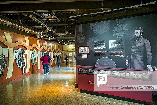 Canada  Nova Scotia  Baddeck  Alexander Graham Bell National Historic Site  museum dedicated to inventor Alexander Graham Bell  interior.