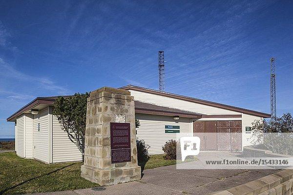 Canada  Nova Scotia  Glace Bay  Marconi National Historic Site  site of Marconi's first transatlantic wireless station in 1902.