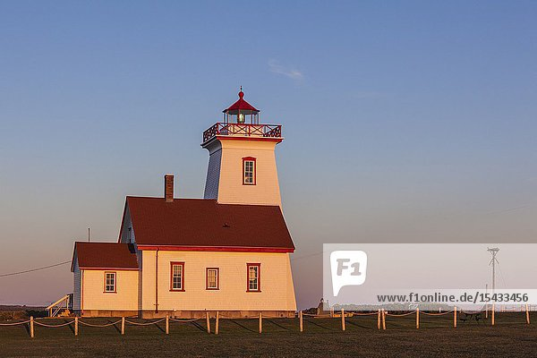 Canada  Prince Edward Island  Wood Islands  Wood Islands Lighthouse  sunset.
