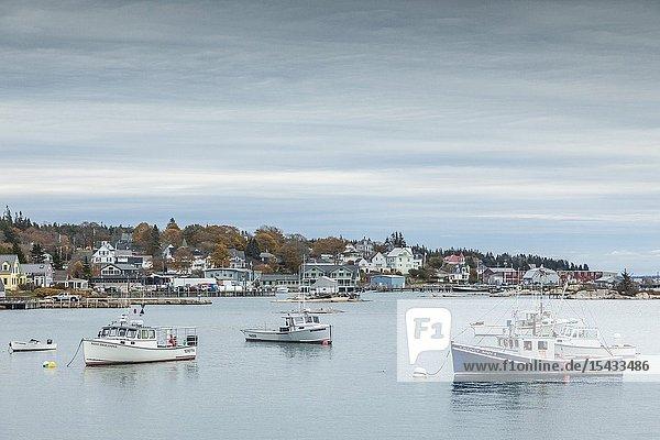 USA  Maine  Stonington  Stonington Harbor  autumn.