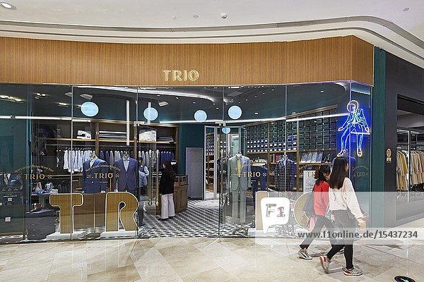Men's fashion shop in Wongtee Plaza shopping mall. Shenzhen  Guangdong Province  China.