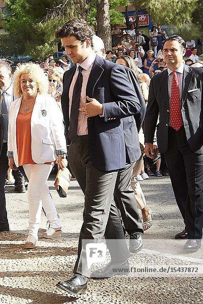 Felipe Juan Froilan de Marichalar  Princess Elena de Borbon attends Bullfight tribute to Maria de las Mercedes de Borbon at Plaza de Toros de Aranjuez on June 2  2019 in Aranjuez  Spain.This event is the last event as King Juan Carlos of Spain Spain will represent the Spanish Royals before of this retirement