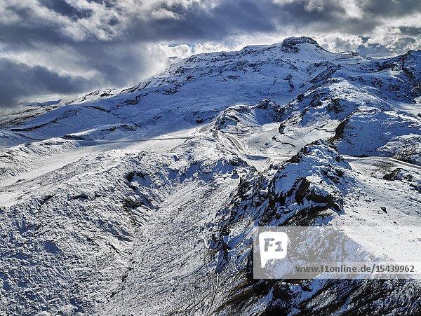 Snow coverd Hengill Mountain  Iceland.