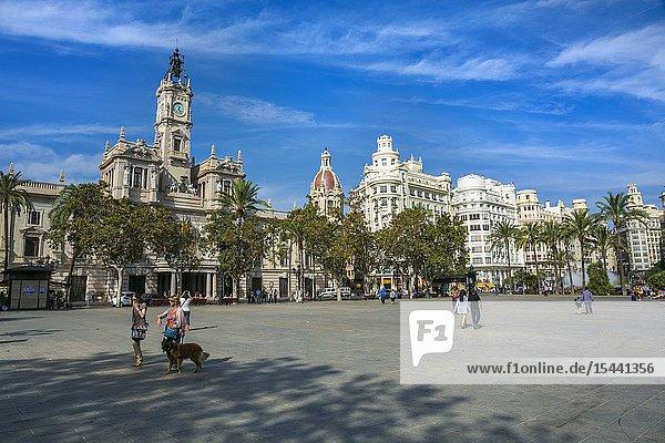 Town Hall Square. Valencia. Comunidad Valenciana. Spain.