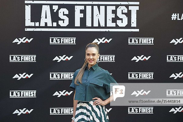 Jessica Alba attends 'L.A.'s Finest' AXN TV Series photocall at Villamagna Hotel on June 10  2019 in Madrid  Spain