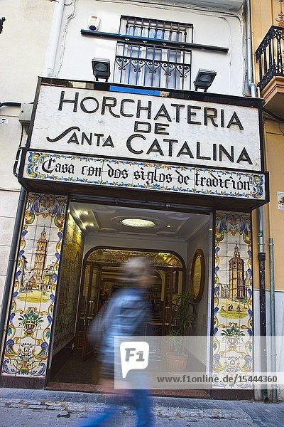 Santa Catalina  horchata bar.Horchateria Santa Catalina.Valencia. Comunidad Valenciana. Spain.