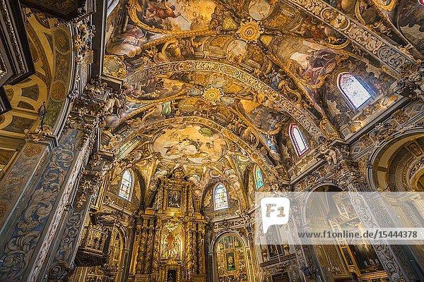 San Nicolas church. Sistine Chapel of Valencia. Baroque fresco. Valencia. Comunidad Valencia. Spain. Europe.