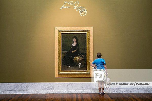 Portrait of Joaquina Candado Ricarte (1802-1804).Francisco de Goya y Lucientes Room (1746-1828). Museum of Fine Arts. Valencia. Comunidad Valenciana. Spain.
