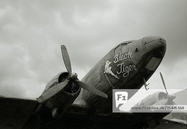 Black Tiger American WW2-era bomber plane.