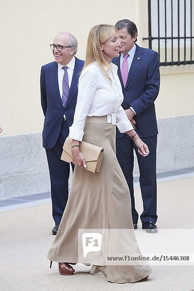 Esther Alcocer Koplowitz attends Annual meeting with the members of the Patronages of the Princess of Asturias Foundation at Palacio de El Pardo on June 26  2019 in Madrid  Spain