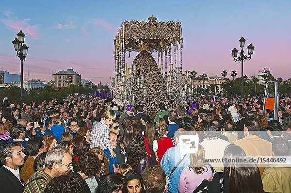 Holy Week. Brotherhood of La O (Virgin of the O). Seville. Region of Andalusia. Spain. Europe.