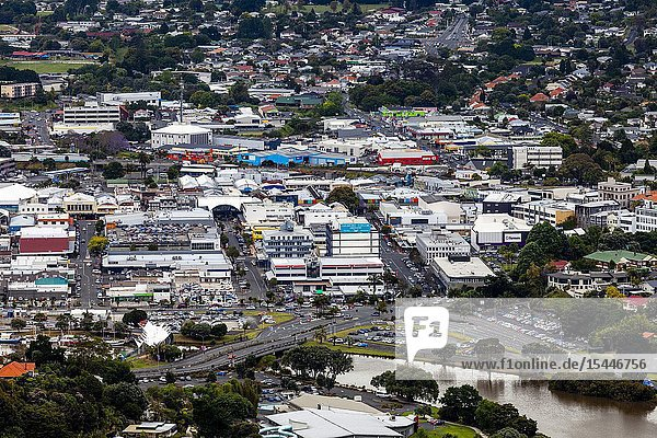 An Elevated View Of The City Of Whangarei  North Island  New Zealand.